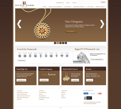 Hyde Park Jewelers Web Site